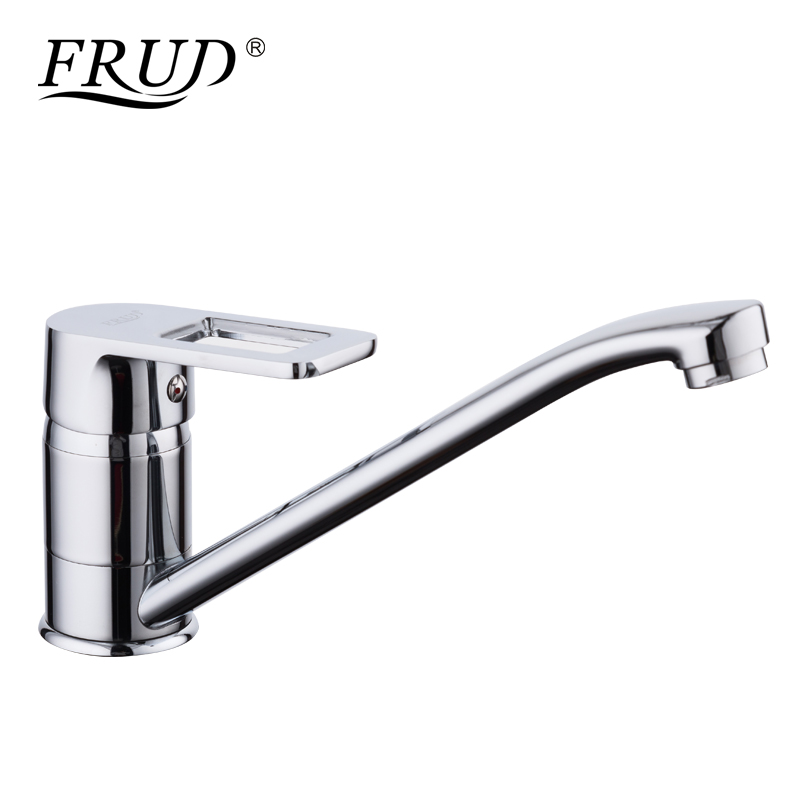 FRUD 1 Set New Zinc Alloy Kitchen Mixer Cold And Hot Kitchen Tap Single Hole Water Tap Kitchen Faucet Torneira Cozinha R49072