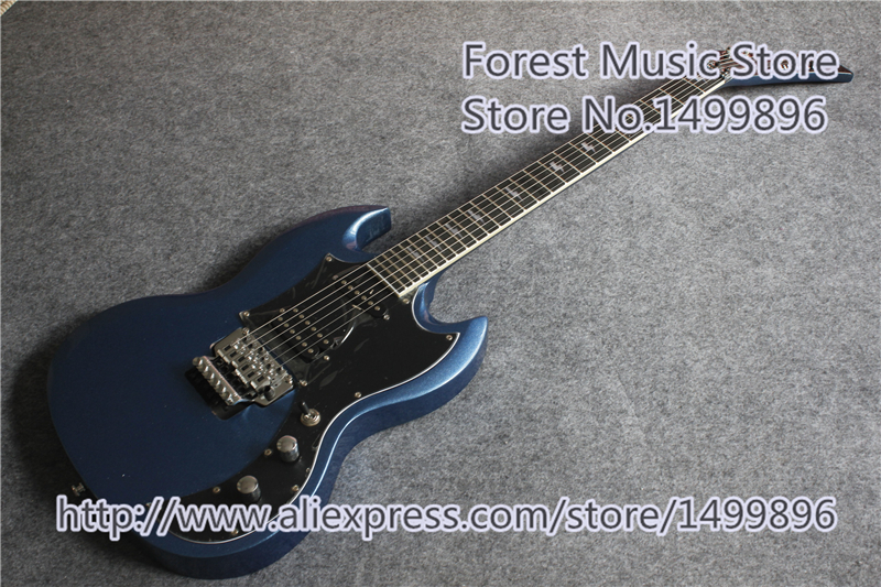 New Arrival Custom Shop Spark Blue Finish Custom SG Electric Guitar As Pictures For Sale musiclily 3ply pvc outline pickguard for fenderstrat st guitar custom