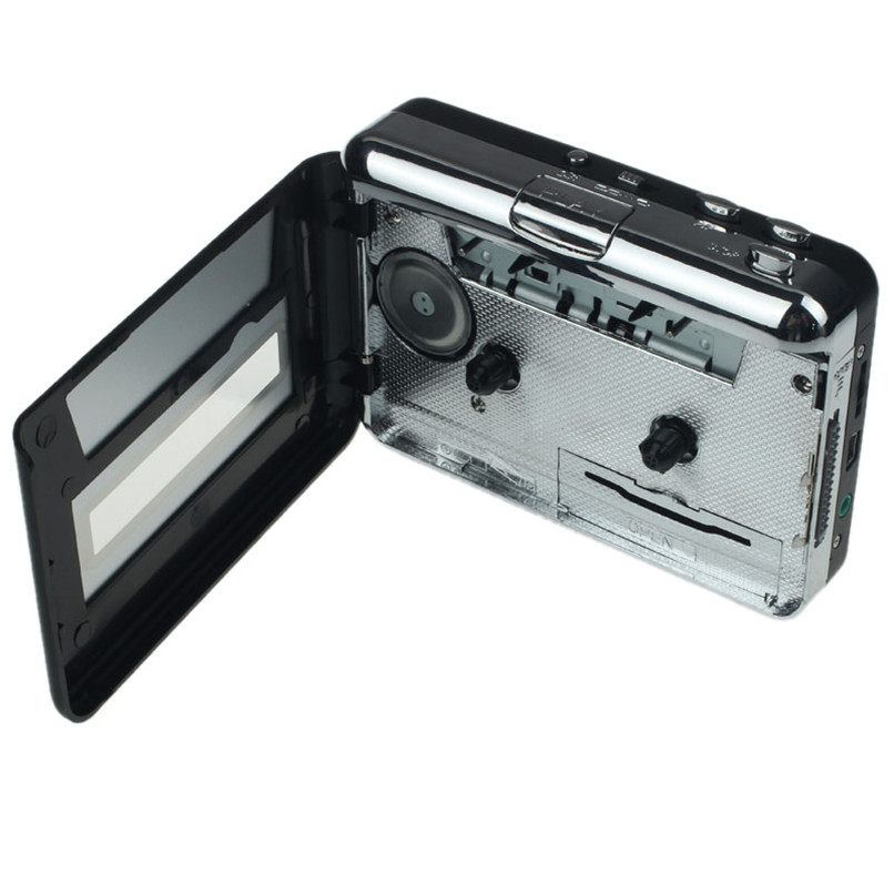 цена на 2017 New Arrivals Audio Portable Music Player Tape to PC USB Cassette to MP3 CD Converter Capture+Headphone Free Shipping H3T29