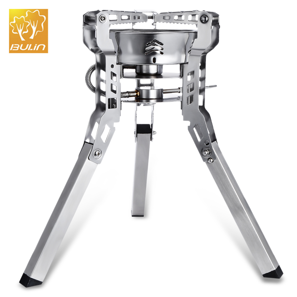 Bulin Outdoor Camping Stove Portable Picnic Gas Burners Foldable Split Gas Stove Portable BBQ Gear Outdoor Cooking Accessories widesea portable camp shove oil gas multi fuel stove camping burners outdoor stove picnic gas stove cooking stove burner