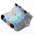 Hot 2017 Cartoon Car Children Socks Fashion Stripe Boy Socks Baby Casual All-Match Cotton Brand Kids Socks 10pcs=5pairs/lot