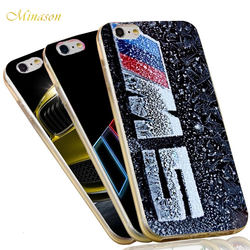 finest selection f09ca 2eef8 US $4.59 |Minason Cases For iPhone 6s Case BMW M5 M3 Power Soft Silicone  Case for iPhone X 7 5 5S XR XS Max SE 6 8 plus Cover Coque Fundas-in ...