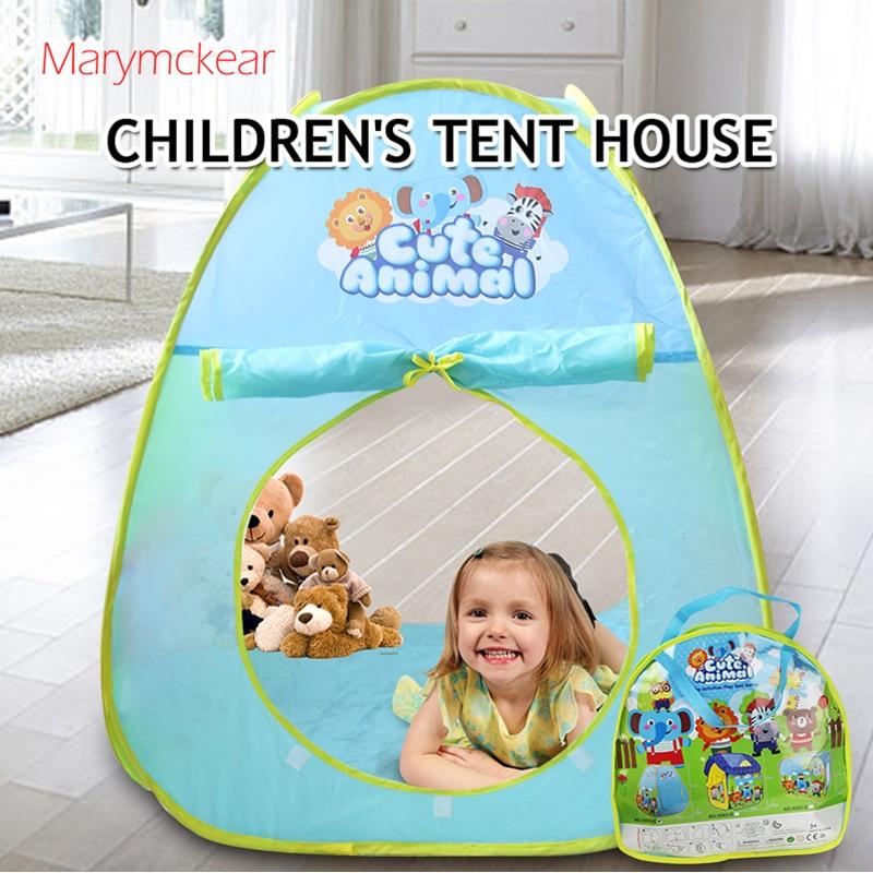 1 Pcs Kids Tent Teepee House Ball Pit Barraca Infantil Mesh Tente Enfant Parent-children Interaction Toy Tent For Picnic
