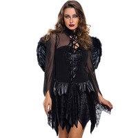 Womens Hot Halloween Black Vampire Bat Wings fancy dress Costume 8845