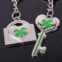 Cặp đôi móc chìa khóa cỏ may mắn khóa cặp đôi móc chìa khóa phụ kiện chuỗi biểu tượng