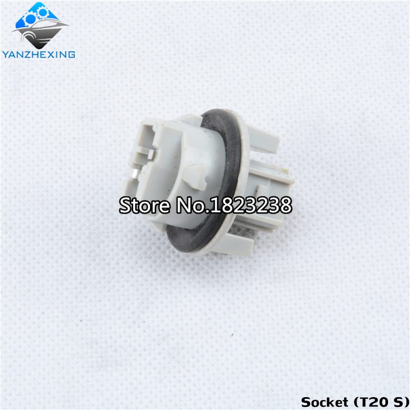 Car Tail Lamp T20 Socket Adapter Connector Holder for Toyota Highlander Alphard