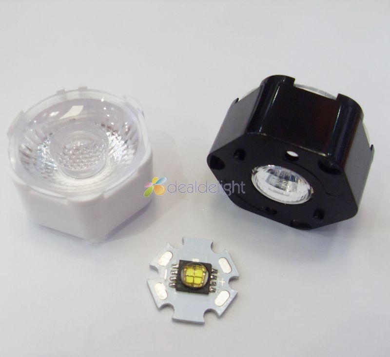5pcs 30 Degrees LED Lens Reflector For Cree MCE MKR XHP70 XHP90 Led Lamp Light Free Shipping