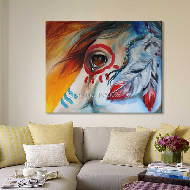Modern European India Oil Painting Horse On Canvas Wall Art Picture Wall  Pictures For Living Room