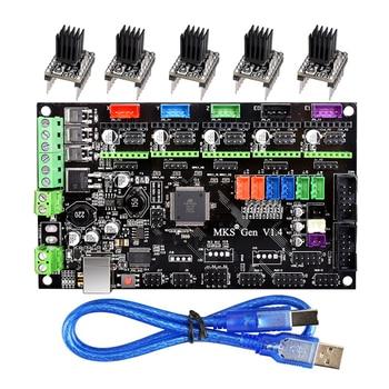 Mks Gen V1.4 3D Printer Control Board Om TMC2130/TMC2208/DRV8825/A4988 Driver Reprap Mega 2560 R3 ramps 1.4 1.5 1.6 Moederbord