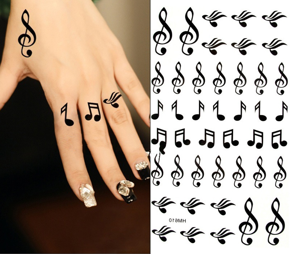 King horse music symbols footsteps note waterproof tattoos 17x10cm king horse music symbols footsteps note waterproof tattoos 17x10cm arm tattoo sleeve flash temporary tattoo sticker in temporary tattoos from beauty buycottarizona