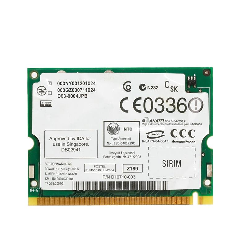 Netzwerk Karten Aufstrebend Wireless Mini Pci Wifi Netzwerk Karte 2200bg 802.11b/g 54 Mbps High Speed Für Für Toshiba Dell Laptop 100% Original Networking
