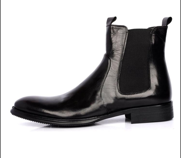 Real Leather Ankle Boots | Tsaa Heel