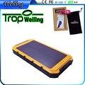 Tropweiling 18650 caja de banco de la energía 8000 mah cargador de batería solar Solar solar powerbank banco pover para todos los teléfonos
