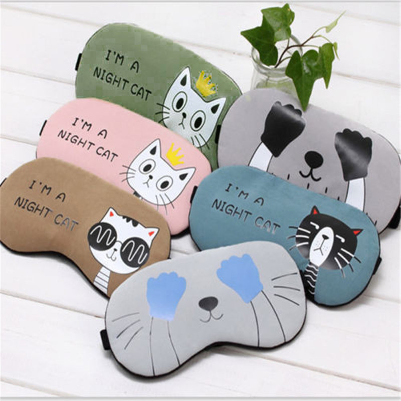 NEW Cute Eye Mask Soft Padded Sleep Travel Shade Cover Rest Relax Sleeping Blindfold12.15