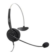 Frete grátis RJ9/conector RJ11 RJ9 headset plugue plugue de telefone do escritório fone de ouvido fones de ouvido com cancelamento de Ruído fone de ouvido de Telefone RJ9
