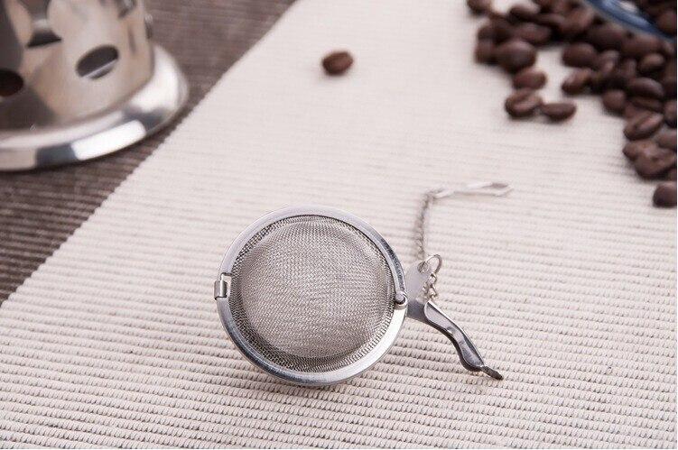 4,5 см чайный заварщик 304 из нержавеющей стали пищевой фильтр FDA для чая с цепью Сфера заварник для чая, шар фильтр хорошего качества