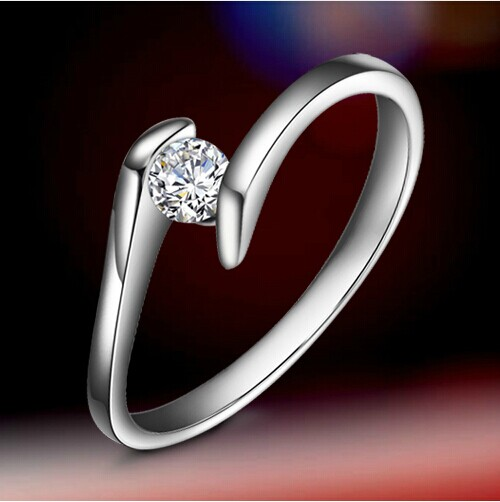 Best Quality White Gold Solitaire Engagement Ring For Women 14k Jewelry 0 5ct Female Twist Setting Brilliant In Rings From Accessories On