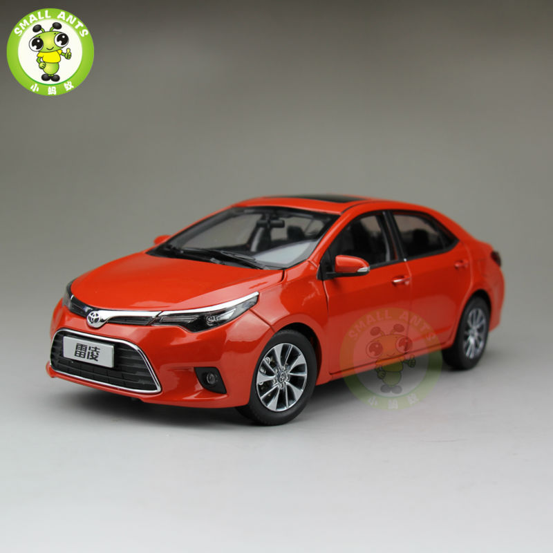 1:18 Toyota Levin Corolla 2014 Diecast Car Model Orange Color special car trunk mats for toyota all models corolla camry rav4 auris prius yalis avensis 2014 accessories car styling auto