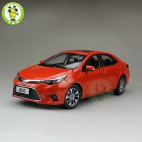 1:18 Toyota Levin Corolla 2014 Diecast Car Model Orange Color