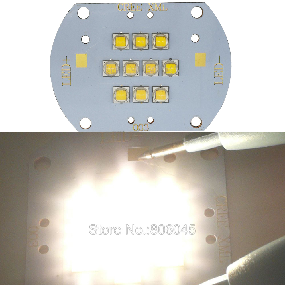 Cree XLamp XM-L2 XML2 LED Bulb Lamp Light 100W Warm White 3000K 30-36V 3A 10 LED SMD MultiChip Light Emitter On Copper PCB Board цена