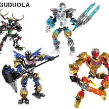 Building-Block-Toys BIONICLE CE Guduola for Boy Earth-Ice-Fire-Hunter Best-Gift Compatible