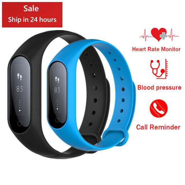 SMARCENT Y2 Plus Herzfrequenz Smart Band Uhr Bluetooth Blutdruckmessgerät Smartband Armband Fitness Tracker Smart Armband