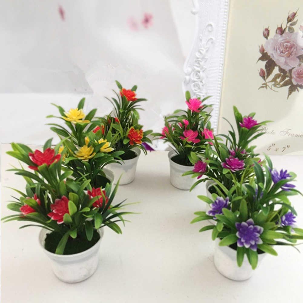 Hadiah Manusia Hidup Simulasi Pot Tanaman Toko Bunga Buatan Palsu Bonsai Taman Rumah Pesta Desktop Kantor Dekoratif