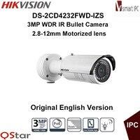 HIKVISION Original English Version DS 2CD4232FWD IZS 3MP WDR IR IP Camera Support Motorized VF Lens