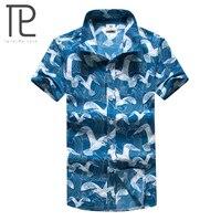 Tailor Pal Love 2018 Hot Mens Hawaiian Shirts Casual Short Sleeve Summer Printing Beach Men Shirts