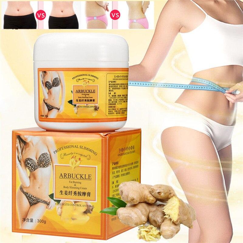 300g Anti Cellulite Corps Minceur Crème Gingembre Tenaces Alimentation Gel Brûleur de Graisse Puissant Perdre Du Poids Produit Peau Serrer Santé soins