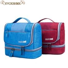 YFGXBHMX Perjalanan beg solek perjalanan baru Kapasiti kalis air kapasiti yang besar kering Pemisahan pakej Beg basuh mudah alih
