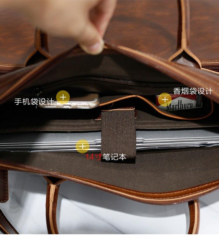 HTB10 hVoMoQMeJjy0Fnq6z8gFXay Brand Men's Briefcase Handbag Crazy Horse Pu Leather Messenger Travel Bag Business Men Tote Bags Man Casual Crossbody Briefcases