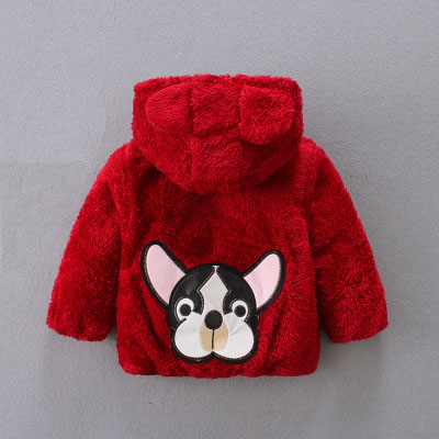 2017 new arrived autumn winter faux fur girl coats dog pattern children outerwear jacket baby clothing boys newborn hooded coat 2017 new baby toddler girl autumn winter horn button hooded pea coat outerwear jacket