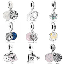 a2aac7973 True Yoga Hanging Lucky Day Tropical Starfish & Sea Shell Pendant Charm Fit  Pandora Bracelet 925