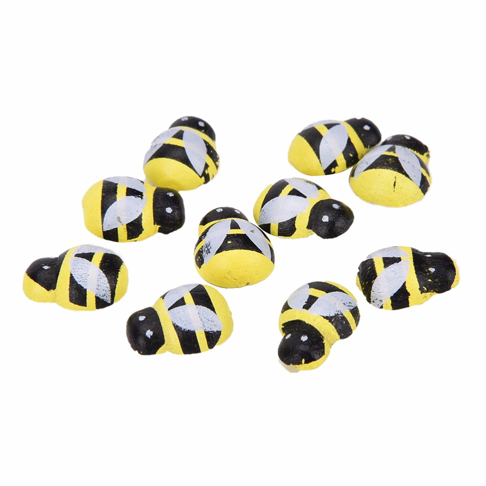 Gekwalificeerd 3d Nieuwigheid Houten Art Bee Dier Koelkast Stickers 13mm * 9mm Kawaii Grappige Magneet Voor Scrapbooking Speelgoed 50 Stks