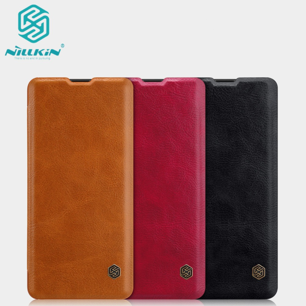 10pcs lot Wholesale NILLKIN Qin Series Wallet Flip Leather Case For Huawei P30 Pro Genuine Flip
