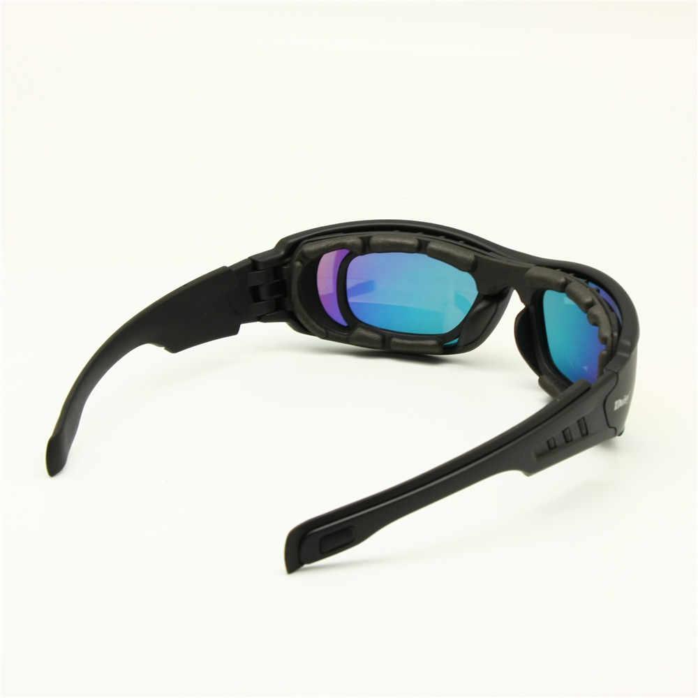 c27987b4cd ... Daisy C6 Polarized Ballstic Army Sunglasses Military Goggles Rx Insert  4 Lens Kit Men Combat War ...
