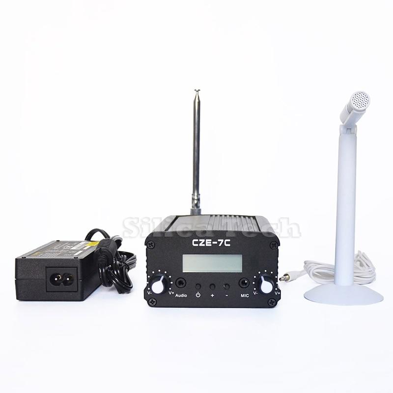 CZE-7C 1-7W FM Stereo FM Transmitter + MIC Kit FM TransmitterCZE-7C 1-7W FM Stereo FM Transmitter + MIC Kit FM Transmitter