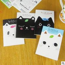 1 piece New hot Cute Cat  mini notebook cartoon notepad  diary book stationery creative notepad children gift  free shipping