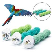 Новинка 2*8 см цветная клетка для домашних птиц окунь подставка платформа лапа шлифовальный попугай