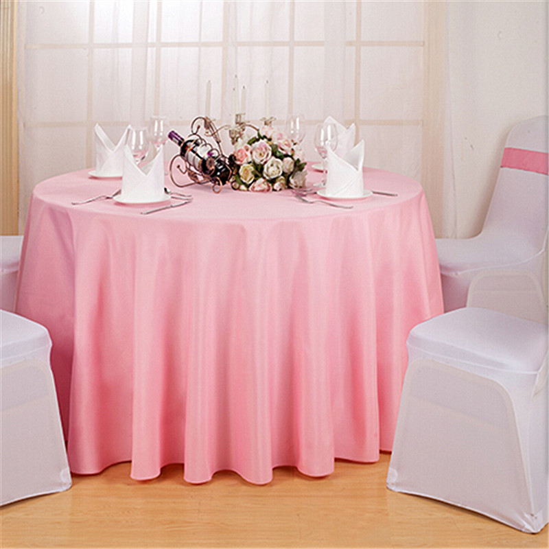 outlet wholesale polyester round tablecloth for wedding