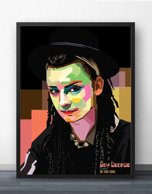 Boy George Pop Art Wall Art Paint Wall Decor Canvas Art Poster Oil Paintings For Living Room No Frame