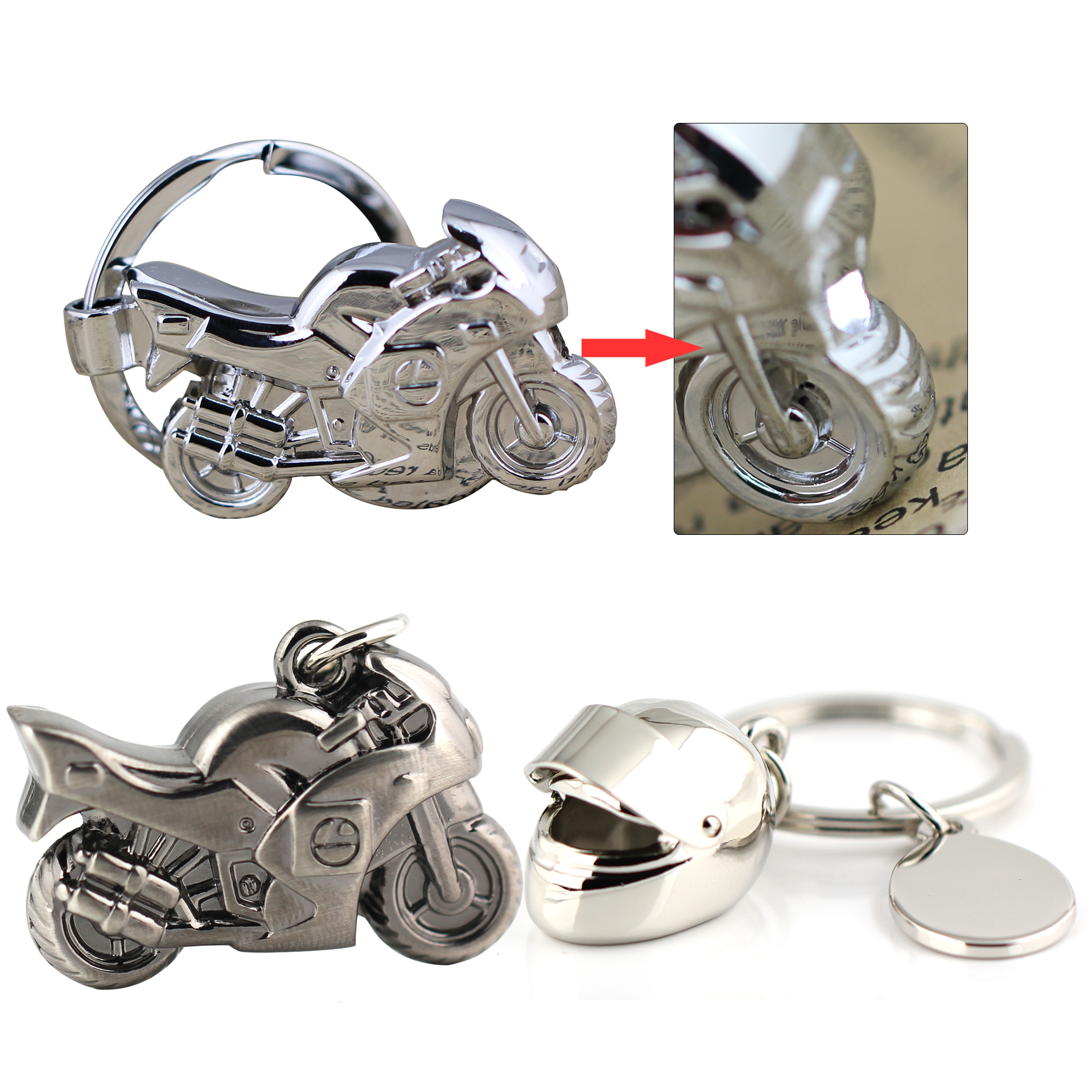 Scorpion 3D Auto Car Charm Keyring Keychain Metal Key Chain Ring Keyfob W