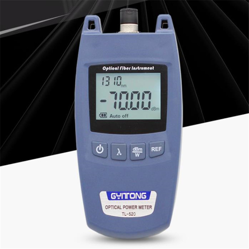 High Precision Mini Optical Power TL-520, Universal Connector Optical Power Meter Fiber Tester, Light Decay Test
