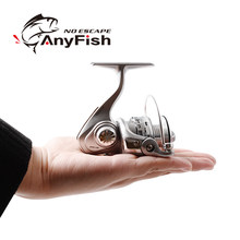 ANYFISH MICRO POWER fishing reel spinning 500/800 pesca carretilha small fishing wheel Winter Ice Fishing mini spinning reels(China)