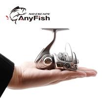 Anyfish micro potência carretel de pesca fiação 500/800 pesca carretilha pequena roda de pesca inverno pesca no gelo mini molinetes