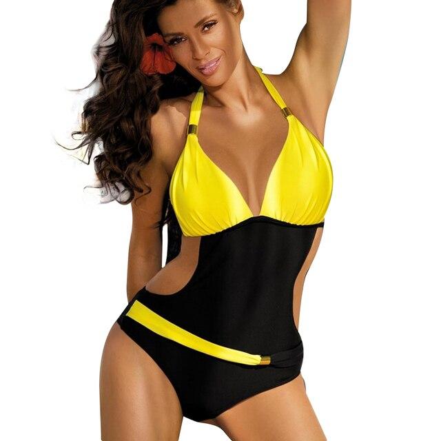 395ddd5e9ec Sport Swimsuit One Piece Plus Size Swimwear Sexy Women Swimming Suit Halter  Swimsuit Fused One-Piece Bathing Suit