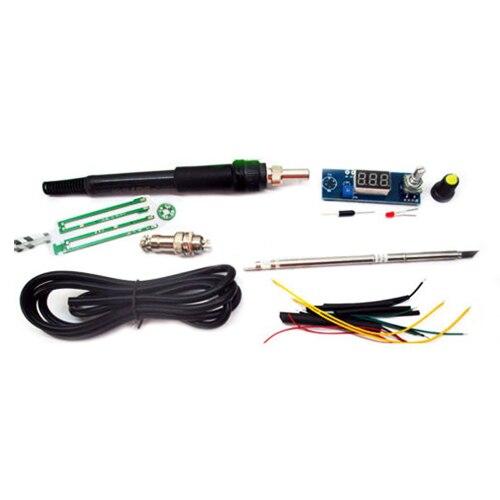 LIXF-Digital Soldering Iron Station Temperature Controller Kits for HAKKO T12 Handle 75w 110v sleep function hakko fx 951 digital display soldering station hakko iron fm2028 hakko t12 b2 soldering tips