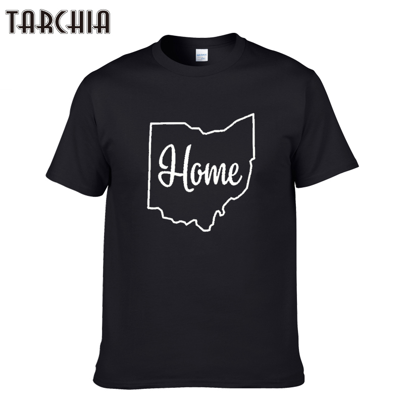 TARCHIA 2018 new arrive fashion home ohio cotton tops tees men short sleeve boy casual homme tshirt t plus free shipping
