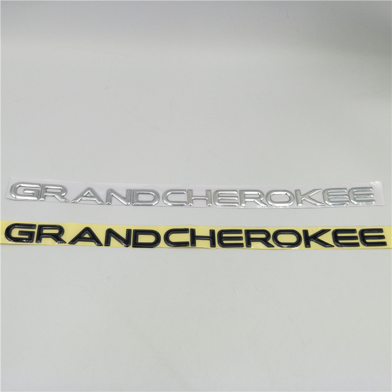 For Jeep GRAND CHEROKEE Sides Door Fender Nameplate Emblem Badge Logo Sticker-in Car Stickers from Automobiles & Motorcycles
